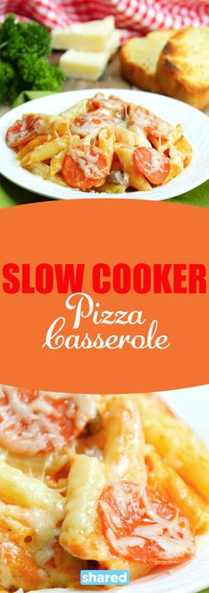 Pizza is one of my favorite foods to eat, period. Pasta is a close second, but there's just something about cheesy carbs with pizza toppings that you just can't beat! This Slow Cooker Pizza Casserole is the best of both worlds. You'll love this meal for an easy Saturday night!