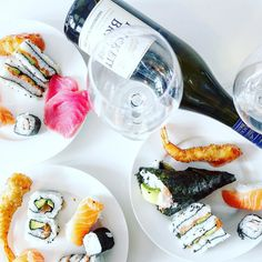 Sushi from @activesushionbree a couple of nights ago was . It was super fresh good value and delivered for free!  It pairs perfectly with a good bottle of Sauvignon blanc (we chose one from @ricketybwinery)  Next time dont forget the wasabi soy and ginger guys! #sushicapetown #sushi