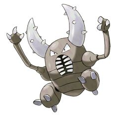 Pinsir - 127 - It grips prey with its pincers until the prey is torn in half. What it can't tear, it tosses far. It swings its long pincer horns wildly to attack.  During cold periods, it hides deep in forests.  @PokeMasters