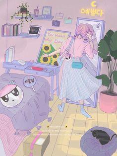 carat y monbebe fanart Cartoon Kunst, Cartoon Art, Art And Illustration, Illustrations, Animes Wallpapers, Cute Wallpapers, Aesthetic Art, Aesthetic Anime, Seventeen Wallpapers