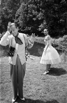 Rare Audrey Hepburn — Audrey Hepburn and Fred Astaire during the filming...