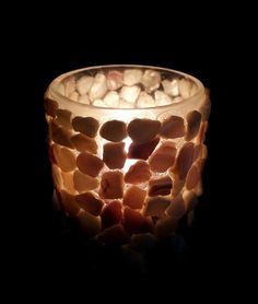 Seashell candle holder by CraftyCatCandles on Etsy