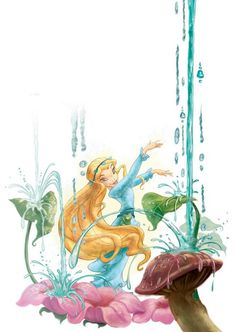 Disney Fairies- Rani the Water Talent Fairy Tinkerbell Movies, Tinkerbell And Friends, Tinkerbell Fairies, Disney Fairies, Disney Face Characters, Disney Movies, Disney Pixar, Walt Disney, Disney Concept Art