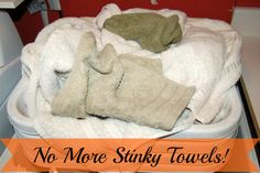 Sick & tired of stinky towels like me? Take these few easy steps with a couple of simple household products, and you'll add fluff and fragrance back into those old towels! Towel Organization, Medicine Organization, Home Organisation, Household Cleaning Tips, Cleaning Hacks, Household Products, Cleaning Lists, Essential Oils Room Spray, Housekeeping Tips