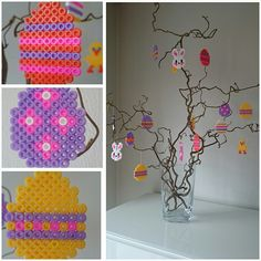 Easter ornaments hama beads by larseneirin
