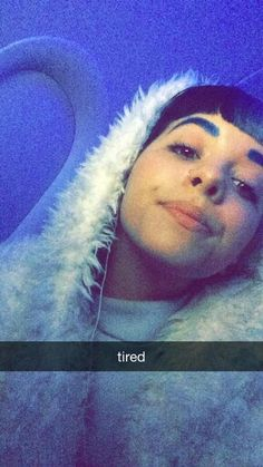 She's so cute even when she's tired