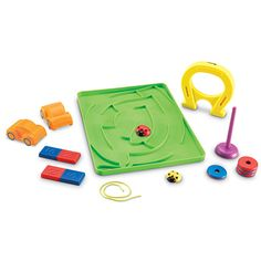 Learning Essentials™ STEM Magnets Activity Set Attract early learners to the wonders of magnetism! Durable magnets in a variety of shapes engage kids as they conduct activities to explore magnetism, polarity, and magnetic attraction and repulsion.