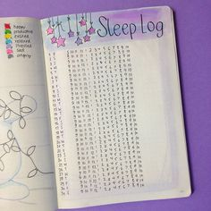 Sharing with you how I've set up my bullet journal for December and which spreads I've added. This is my Sleep Log Spread