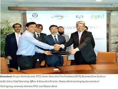 PTCL and Meezan Bank sign agreement for PTCL Wireless Broadband services.