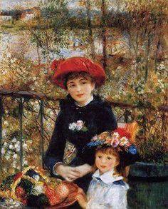 """Pierre-Auguste Renoir. """"dos hermanas"""" 1879 Aceite"""
