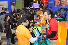 Checking out Windows 8 in Japan.