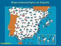Mapa meteorológico de España online activity.
