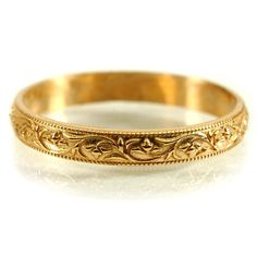 Gold Stacking Rings Stacking Vintage Style Ring Petite Ring Stackable Wedding Rings Floral Ring Gold Custom Made in Your Size Vintage Gold Engagement Rings, Diamond Engagement Rings, Gold Earrings, Gold Jewelry, Jewellery Box, Tiffany Jewellery, Jewellery Shops, Jewelry Stand, Jewellery Making