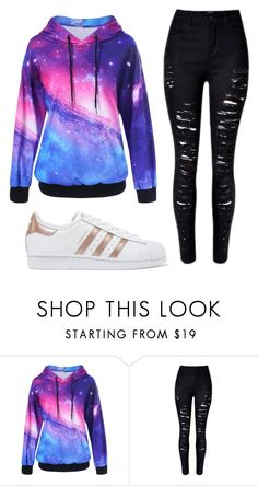 """Untitled #102"" by mairethekiller on Polyvore featuring adidas Originals"