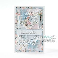 Perfect occasion to create (using our papers!) beautiful, handmade card with… Scrapbook Journal, Scrapbook Page Layouts, Scrapbooking, Card Making Tutorials, Making Ideas, Paper Cards, Diy Cards, Spellbinders Cards, Pretty Cards
