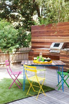 outdoor küche aus paletten