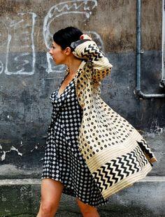 Płaszcz w stylu mundurowym (proj. Monika Jaworska), do kupienia w DecoBazaar.com