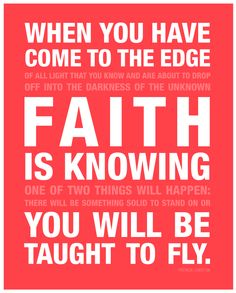 Have faith + fly. My life's calling and image is to encourage people to believe for better.