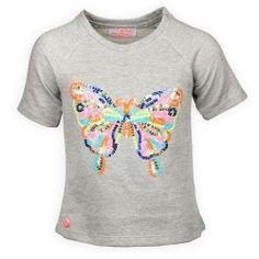 Mim Pi Zomer 2015 Onlineshop Meisjes Sweatshirt Vlinder Grijs