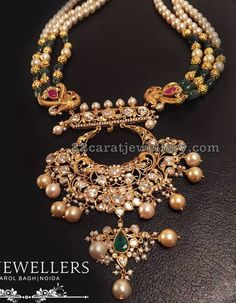 Gold Jewelry Design In India Real Gold Jewelry, Gold Jewellery Design, Beaded Jewelry, Jewlery, Stylish Jewelry, Fashion Jewelry, India Jewelry, Necklace Designs, Wedding Jewelry