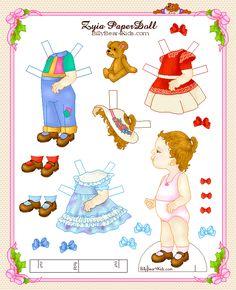 Baby paper dolls 142