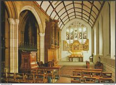 St Mary's Aisle, Truro Cathedral, Cornwall, c.1980s - Judges Postcard