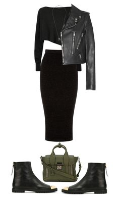 """""""Untitled #86"""" by jofrancis ❤ liked on Polyvore featuring Warehouse, Crea Concept, Yves Saint Laurent, Giuseppe Zanotti, 3.1 Phillip Lim, MIANSAI, women's clothing, women, female and woman"""