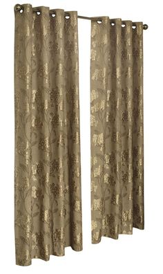Shiney Flowers Floral Single Curtain Panel