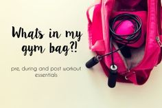 Gym Bag essentials! What's in my gym bag?! Essential for pre, during and post workouts.
