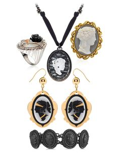 Hanging from a chain, or set on a ring, cameos have made a contemporary come-back. Designers are revisiting the tiny silhouettes in white or black resin, to add a touch of ostentatious baroque to your spring style. Revise your classics with the edit of the best pieces for Victorian chic <3