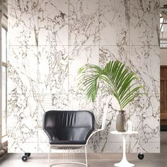 NLXL Materials Wallpaper by Piet Hein Eek - White Marble | PHM-white-wallpaper-config | £199.00