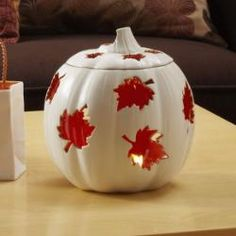 Perfect for the fall! Autumn Pumpkin Candle Holder by PartyLite $12 (Reg 35.00) while supplies last