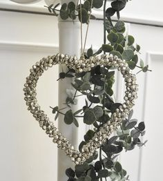 Silver Bell Hanging Heart - Maison by Emma Jane