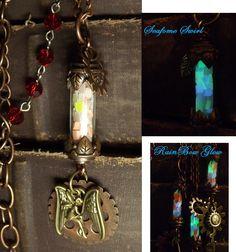 Steam Punk Glow In The Dark Fairy Glow Lantern by WingsOfTwilight, $38.00