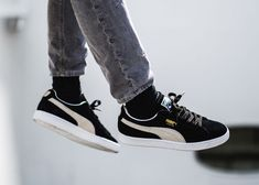 b19b30ae51a PUMA SUEDE CLASSIC + - BLACK   WHITE SNEAKERS IN ALL SIZES  adidas   RunningShoes