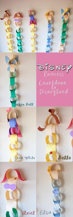 Disneyland Countdown with the Disney Princesses! How cute! | Disney Craft | Disney DIY | Disney Travel Tip | #cruisetipswithkids #cruisetipsprincess