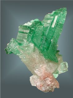 Stunning and rare! Cerussite with Malachite inclusions / Tsumeb Mine, Namibia