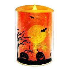 Halloween Flameless LED 3 x 4 Pillar Candle