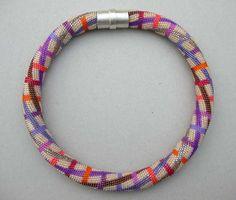 Bead crochet necklace by Hildegard Ilkerl