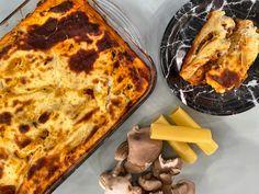 Bechamel, Stuffed Mushrooms, Pizza, Vegetarian, Cheese, Food, Drink, Vegetarian Cooking, Stuff Mushrooms