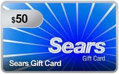 Enter to win a $50 Sears Gift Card