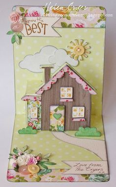 The Dining Room Drawers: Pop 'n Cuts Good Bye House Card