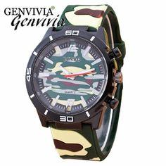 2017 Fashion men PU leather watch reloj fashion casual Camouflage Auartz men watches on sale military watches men saati homme