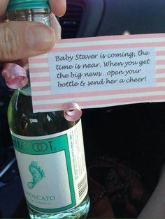 Baby is coming celebratory drink baby shower favor