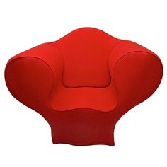 Soft Big Easy Chair by Ron Arad Designed 1988 Produced 1991 by Moroso Italy Vintage Chairs, Vintage Furniture, Home Decor Furniture, Cool Furniture, Ron Arad, Red Studio, Backrest Pillow, Modern Chairs, Upholstery