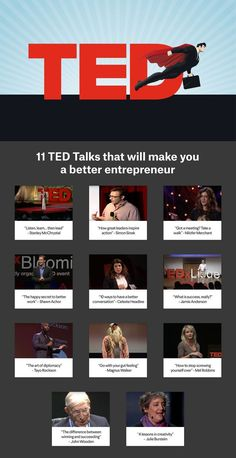 TED Talks are great ways to find inspiration and new ideas. Here are the 11 best TED talks to watch when you want to become a better entrepreneur. Inspiration Entrepreneur, Entrepreneur Motivation, Entrepreneur Quotes, Business Marketing, Business Tips, Ted Talks Business, Best Ted Talks, Best Entrepreneurs, Human Body Unit