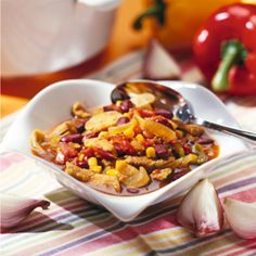 Mitternachtssuppe Dinner For One, Silvester Party, Kung Pao Chicken, Soups And Stews, Macaroni And Cheese, Chili, Buffet, Vegetables, Ethnic Recipes