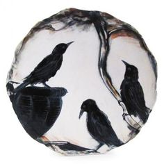 Crow Trio by Laurie Shaman - The Clay Studio