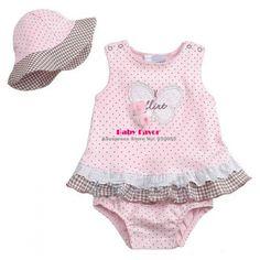 Polka Dot Infant Kids Children Hat Jumpsuit Playsuit Suits