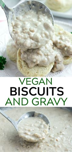 fluffy vegan biscuits with tempeh sausage gravy! 30 minutes and OIL FREE Easy, fluffy vegan biscuits with tempeh sausage gravy! 30 minutes and OIL FREE. -Easy, fluffy vegan biscuits with tempeh sausage gravy! 30 minutes and OIL FREE. Vegan Brunch Recipes, Healthy Vegan Snacks, Vegan Foods, Vegan Dishes, Vegan Snacks On The Go, Vegetarian Recipes, Vegetarian Cooking, Dessert Recipes, Biscuits Végétaliens